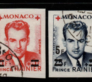 Monaco singles from MS459 fine used