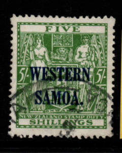 Samoa SG 208w fine used, inverted watermark
