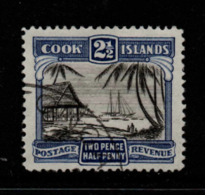Cook Islands SG 102a, Perf 14, fine used