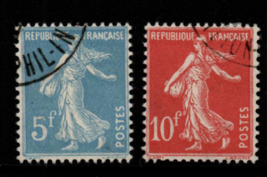 France SG 454 + 454a fine used