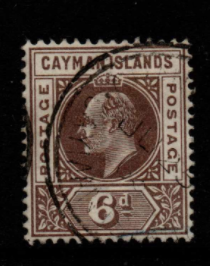 Cayman Islands SG 6 fine used