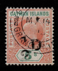 Cayman Islands SG 18 fine used