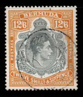 Bermuda SG 124 Fine used King George VI