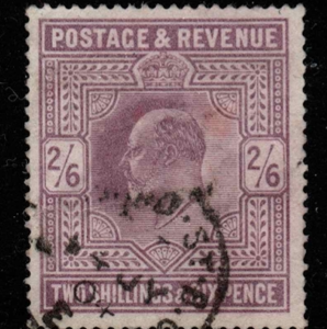Great Britain stamp, SG 260, 1902-1910, King Edward VII, 2s6d, Lilac, Fine used
