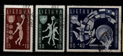 Lithuania SG 432-434 fine used