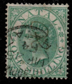 South Africa-Natal SG 25 fine used